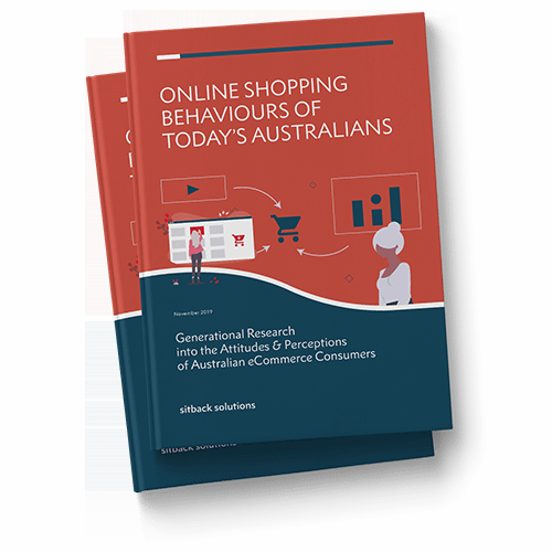 Mockup of Online Shopping Behaviours of Today's Australians - eCommerce Research Report by Sitback