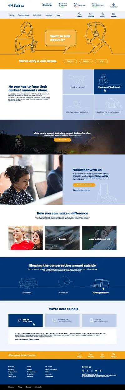 Lifeline Australia website mockup