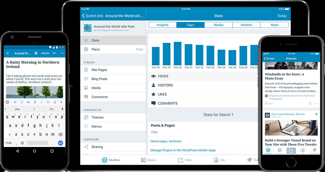 WordPress mobile app for on-the-go management